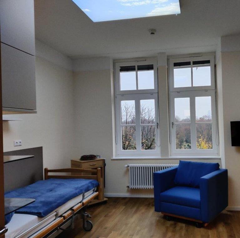 Stationäres Lazarus Hospiz Berlin - blaues Zimmer
